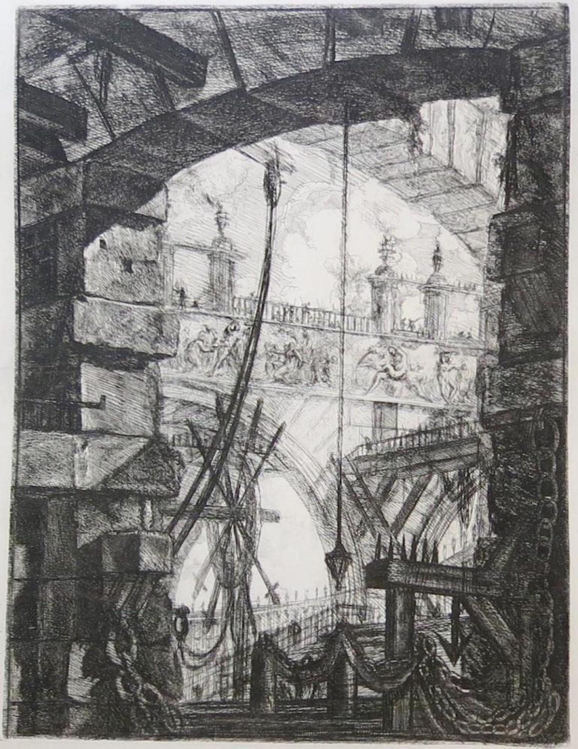 Giovanni Battista PIRANESI, La grande Piazza, 1749, eau-forte