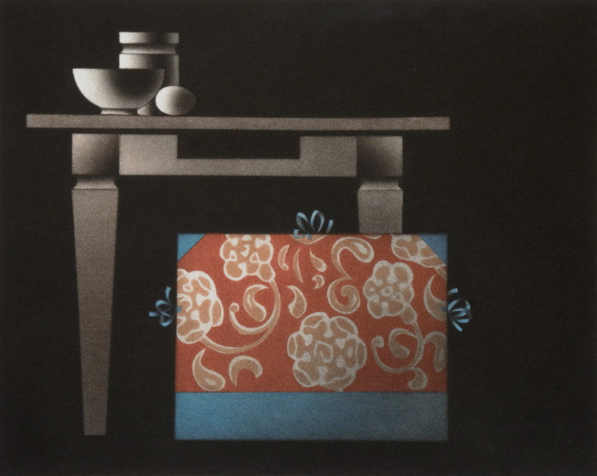 Sagot-Le Garrec Mario Avati Le japonais du père Sagot 1974 Manière noire en couleurs 249 x 311 mm