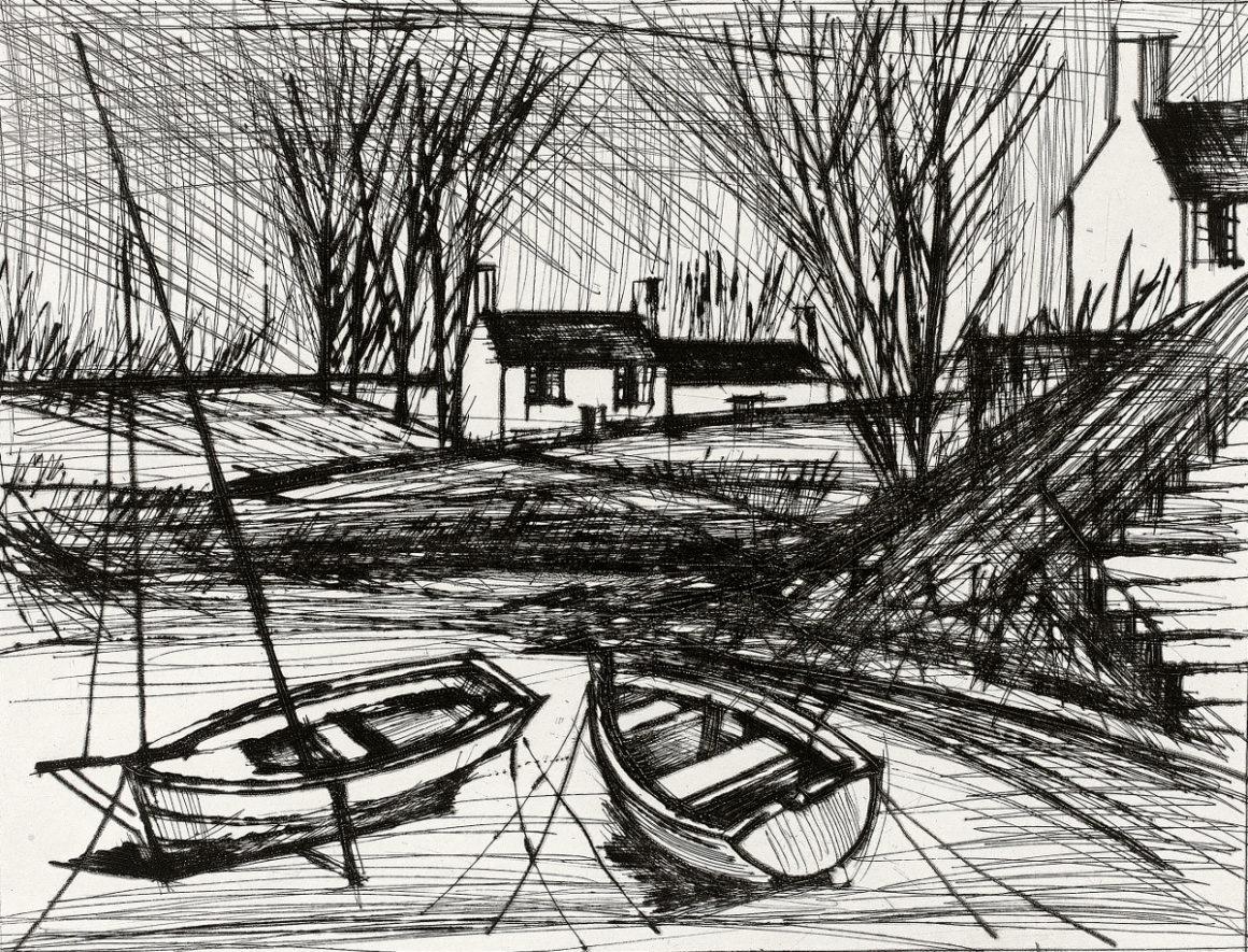 Sagot-Le Garrec Bernard Buffet Environs des Ponts-Neufs 1979 Pointe sèche 340 x 422 mm