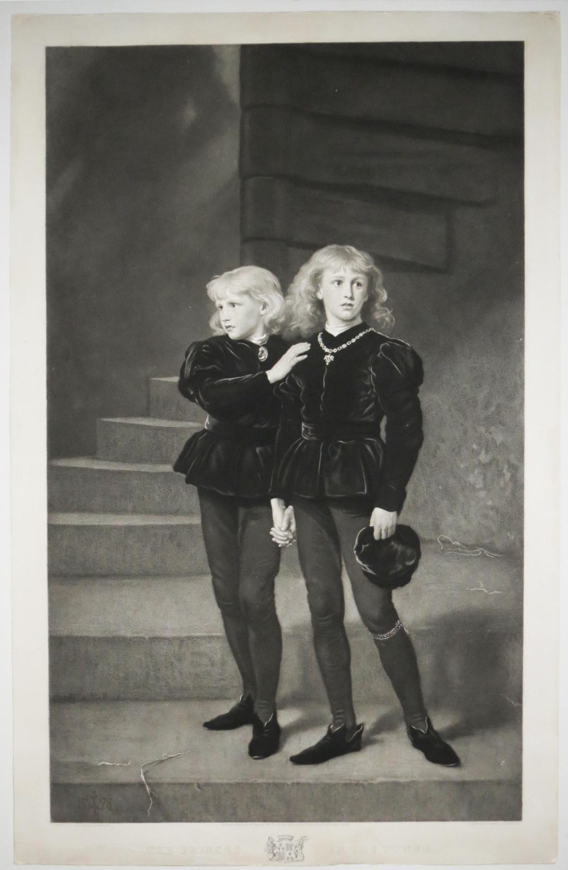 """The princes in the tower"" by Samuel Cousins mezzotint 1879"
