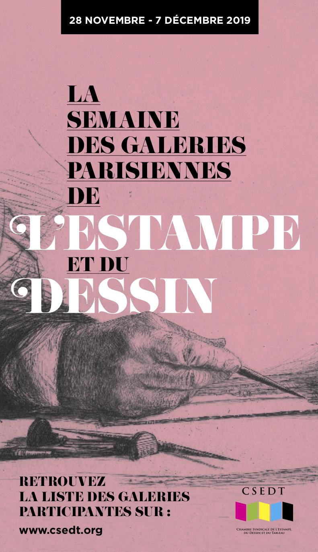 La Semaine des Galeries Parisiennes de l'Estampe et du Dessin, 2019 – visuels