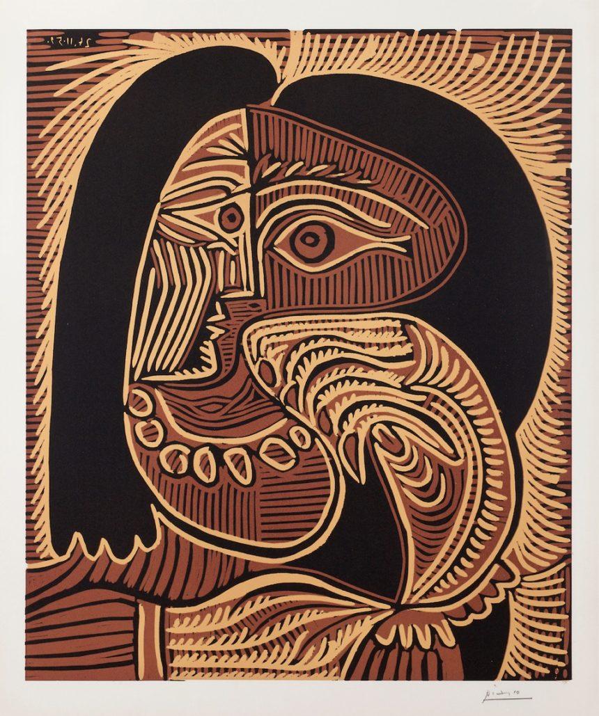 "Exposition ""Pablo Picasso, Linogravure et série 347», Bouquinerie de l'Institut"