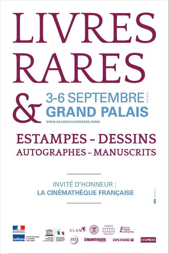 Salon du livre rare et de l'estampe, catalogue en avant-première